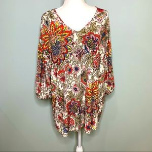Pink Coconut Boutique Floral Pattern Top Pink XXL